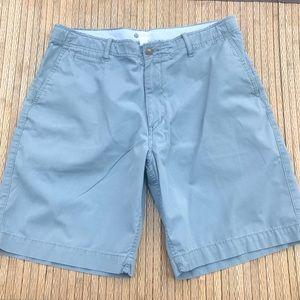 Mens J.Crew Blue Chino Cotton Shorts Size 36